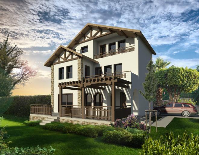 Къща в рустикален стил с.Росен